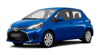 cheap Toyota Yaris for rent in Tivat airport, from 10 euros/day