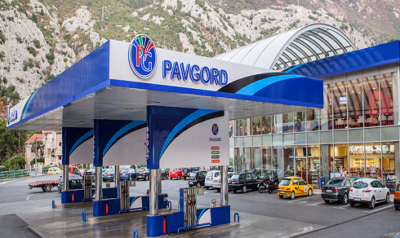 Fuel station Pavgord, near Tivat